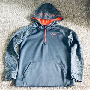 Boys under Armour 1/4 zip hoodie m